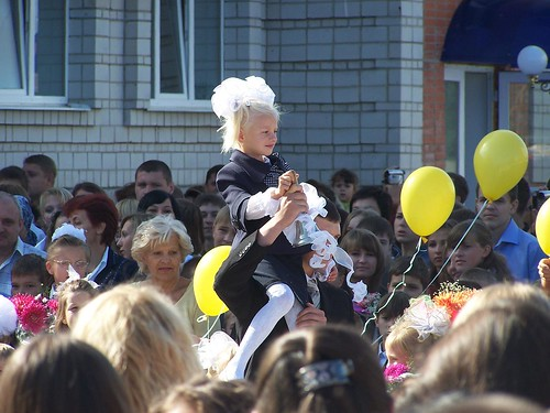 Little Masha ringing the First Bell