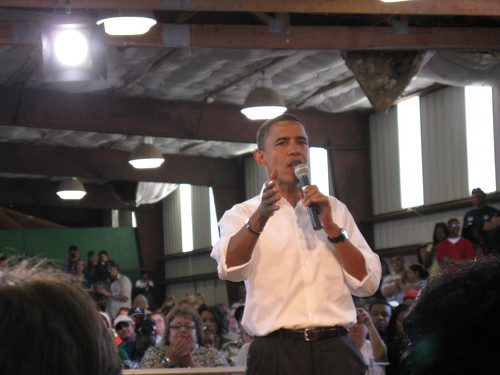 Obama in Terre Haute by BeckyF, on Flickr