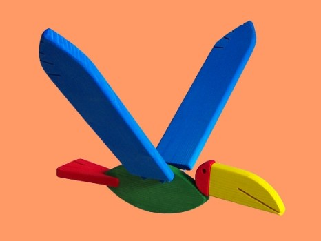 Flying Toucan Wooden Mobile Toy