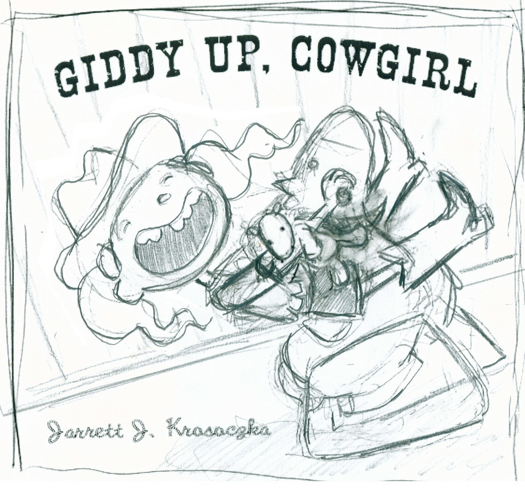 Giddy Up, Cowgirl cover sketch