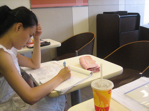 Students studying in McDonalds by Tricia Wang 王圣捷, on Flickr
