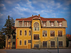 Old school (aistora) Tags: old blue school sky building home architecture sofia hometown memories bulgaria older restored pinetrees couds renovated schoolyard formerhome supershot yelolow mywinners maistora theunforgettablepictures theperfectphotographer    1