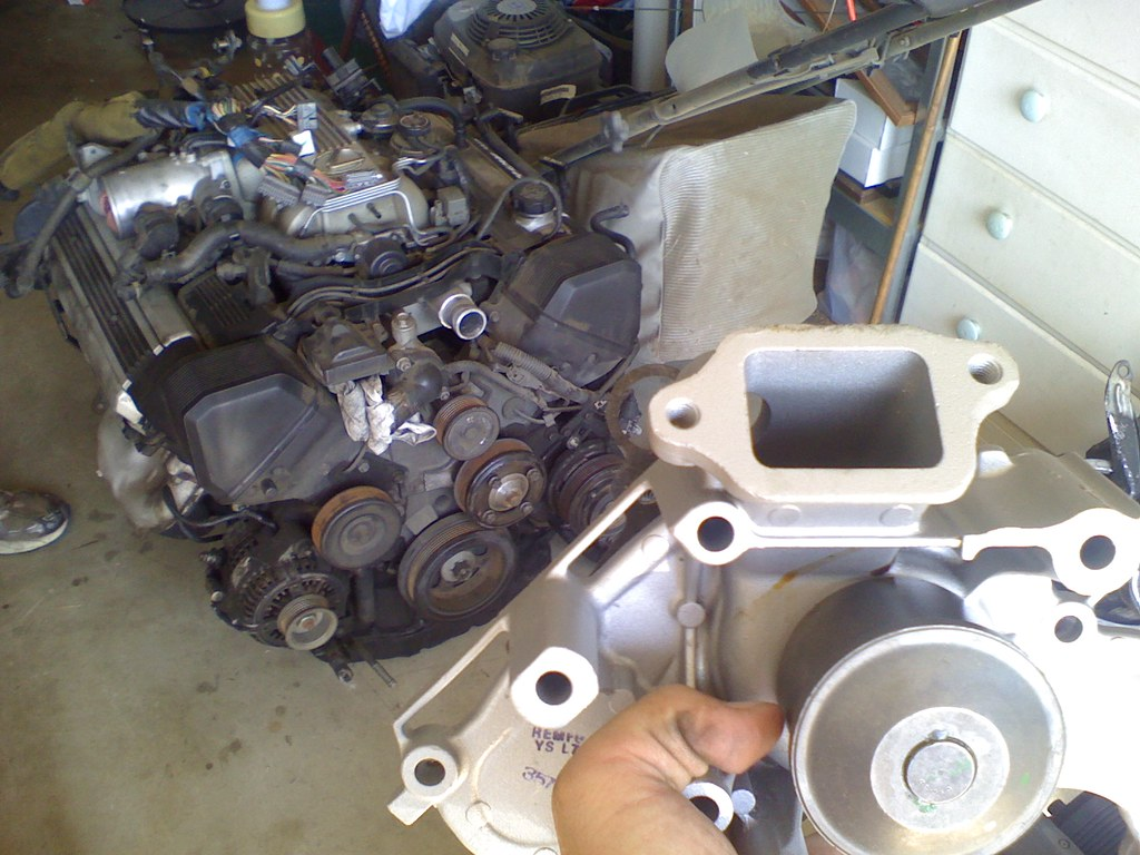 Mmm... New water pump. ALMOST time to start installing the motor.