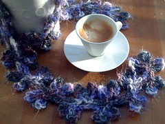 ♥ Good morning... friday morning! (♥ Ana's Place ♥) Tags: coffee scarf crochet yarn tergal