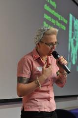 Kath Moonan presenting