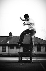 (AlexJohnston) Tags: uk school college photoshop nose nikon cornwall nathan cs2 box board slide adobe skate grind blunt fs bodmin d40 gathercole frontsite