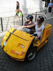 A Go Car in Lisbon, Portugal