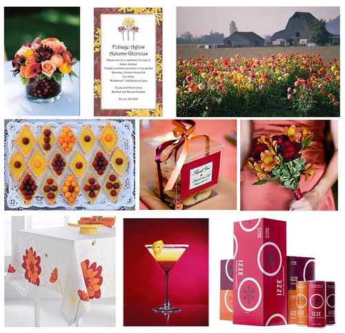 Wedding Wednesday: Yellow, Maroon, Burgandy, Pink and Orange