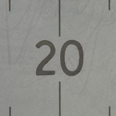 20 (Leo Reynolds) Tags: canon eos iso100 number 60mm 20 ruler f8 twenty 0ev 02sec 40d hpexif xsquarex xleol30x xratio1x1x xxx2008xxx