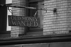 Old money sign