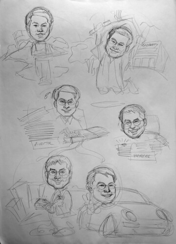 Caricatures for Affinity Equity Partners pencil