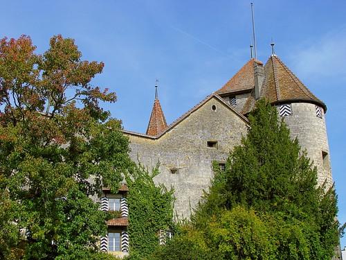 Schloss Murten / Morat , Kanton Freiburg , Schweiz