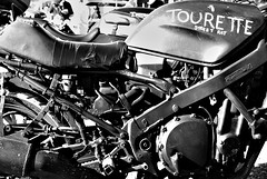 tourette (SYMEHAWK) Tags: auto old blackandwhite art bike nikon brighton d80 nikond80 brightona symehawk