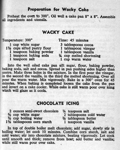 Wacky Cake Aitken 1965