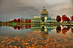 Pavillion du Bassin Bonsecours - Montral (Nino H) Tags: bridge autumn canada reflection fall water colors automne eau montral quebec montreal couleurs cartier qubec pont oldmontreal jacques hdr pavillion bassin patinoire vieuxmontral bonsecours rflexion tourdelhorloge abigfave platinumphoto photoquebec