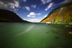 Lake Willoughby, 20 seconds (Zeb Andrews) Tags: autumn lake fall film landscape vermont rich newengland pinhole pinscape zero69 lakewilloughby bluemooncamera greenmountainstate zeroimage6x9 zebandrews zebandrewsphotography