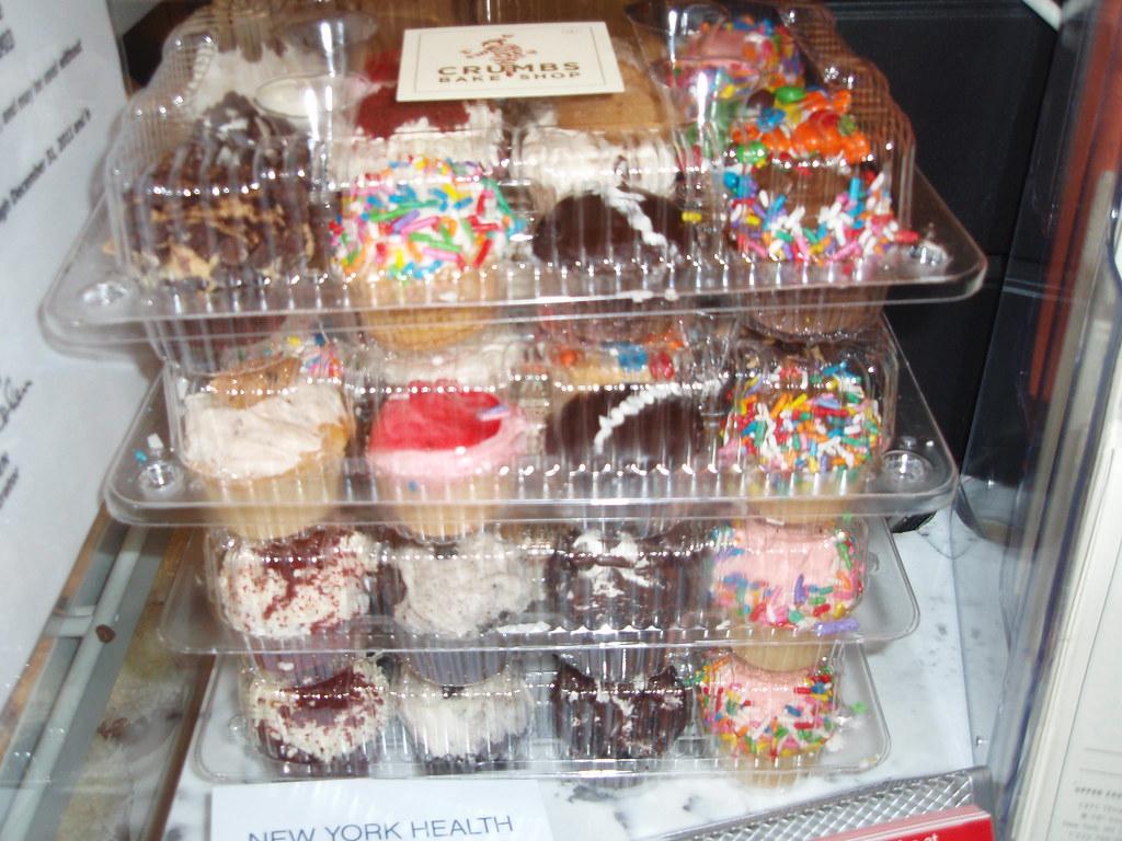 Mini cupcakes at Crumbs University Place