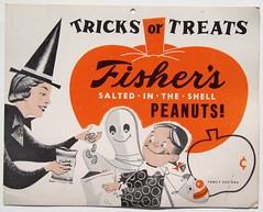 Fisher's Peanuts Halloween sign