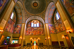 Rotunda, Los Angeles Central Library (Candice (Bessie Smith)) Tags: losangeles interestingness downtown library murals landmark explore rotunda hdr historicbuilding losangelescentrallibrary top20la therichardriordancentrallibrary