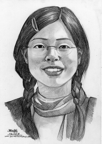 lady portrait in pencil 021108