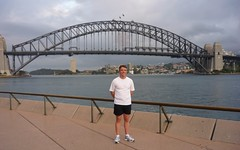 Bill in front of the Sydney Harbor Bridge