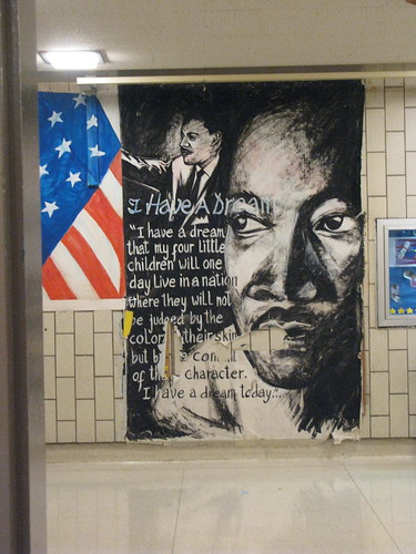 mural in the school i voted in.  fitting i think today