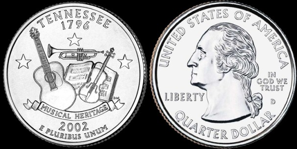 USA km#331 Tennessee State Quarter