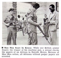 Mau Mau Scare in Kenya - Jet Magazine, October 22, 1953 (vieilles_annonces) Tags: old people usa black history vintage magazine print scans fifties photos african negro protest retro ephemera nostalgia photographs american rights 1950s blacks americana colored 50s magazines articles folks oldphotos civilrights newsclipping uprising blackhistory 1953 vintagephotos africans maumau africanamericanhistory negroes peopleofcolor vintagephotographs newsclippings vintagemagazine nairobikenya coloredpeople negrohistory coloredfolk blacknews