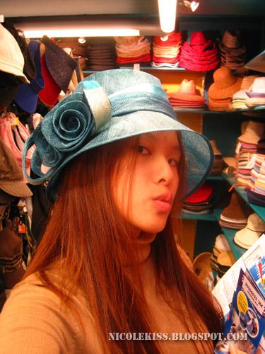 cool blue hat