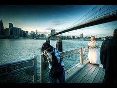 Her day (Kaj Bjurman) Tags: new york usa ny apple brooklyn america eos big manhattan meta under large bridges marriage sephia hdr kaj cs3 photomatix 40d 3xraw bjurman