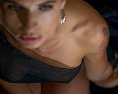 Sarah (MyklR) Tags: people woman newyork sexy beautiful tattoo hair eyes breasts lips sensual shoulder homepage clavicles sarahgreen lrapptv