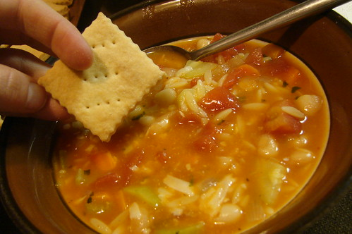 Crackers & Minestrone