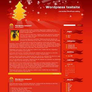 45+ Beautiful Free Christmas Wordpress Template 2011