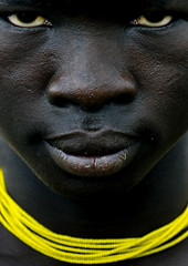 Mursi man with yellow necklace, Omo Ethiopia (Eric Lafforgue) Tags: africa man black face closeup necklace artistic dam african tribal explore ornament blackpeople bodypainting ethiopia collar tribe ethnic rite barrage mursi tribo homme visage adornment africain afrique pigments tribu omo eastafrica thiopien etiopia ethiopie etiopa etnia ethnique 3832 lafforgue  etiopija ethnie ethiopi  ericlafforgue etiopien etipia  etiyopya  southethiopia nomadicpeople ericlafforguecom    abissnia   salinicostruttori    gibeiiidam gibe3dam bienvenuedansmatribu peoplesoftheomovalley
