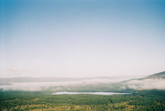cairngorm - morlich (a_bigger_splash) Tags: morning blue sky cloud forest 35mm scotland high lomo lomography symbol low highland dew loch smena ref morlich carngorm