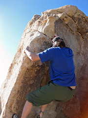 a short shot at fame (starfishprime) Tags: california nature rock stone nationalpark sand wildlife joshuatree climbing bouldering joshuatreenationalpark