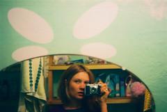 mrcz000032 (mariczka) Tags: camera portrait selfportrait reflection sexy film me girl face analog hair geotagged bathroom iso100 mirror towel portraiture vintagecamera shelves borrowedcamera fujireala100 audel mariczka vintageanalogue kodakretina11939
