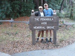 Ed and Eddie at the Peninsula AIDS Memorial Grove