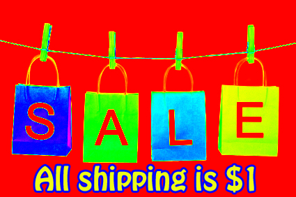 $1 shipping sale!!!