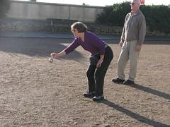 Joyce's elegant ball-throwing stance