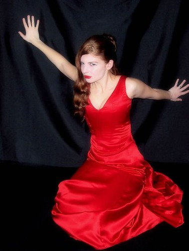 This is a replica of the red dress from baz luhmrans the moulin rouge.