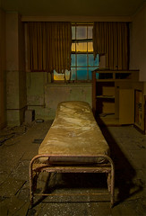 Sick Bay (Noel Kerns) Tags: abandoned night hotel texas baker wells mineral