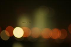 Life is ..... (Weda3eah*) Tags: life light orange brown 3 blur night dark is you corniche iloveyou doha qatar  qtr     pokeh weda3eah