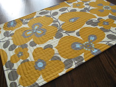 Placemat Ochre and Gray (Set Carr) Tags: morning modern table gold amy lotus linen contemporary glory sewing gray placemat fabric cotton butler quilting quilted etsy ochre houseware tablemat