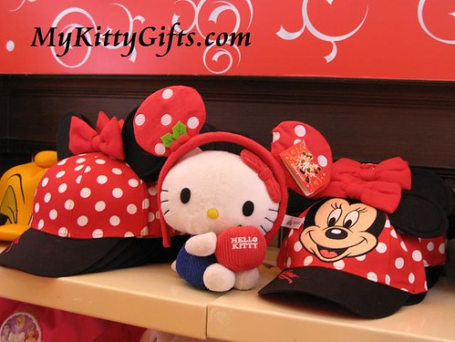 Hello Kitty in New Mickey Costume at Merlin's Treasures, Hong Kong Disneyland