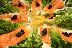 3139878392 d1a93ff775 m Smoked Salmon on a Bed of Lettuce