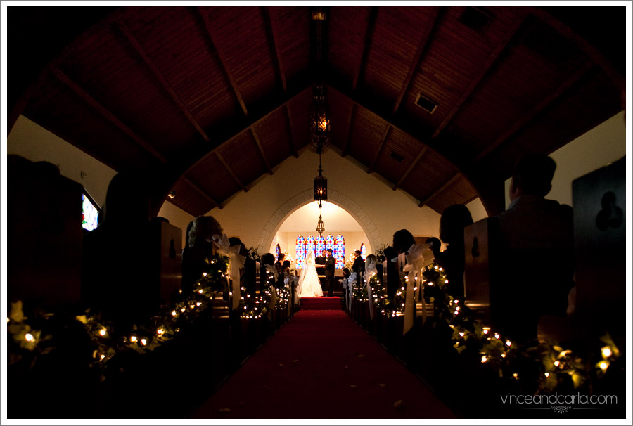chapel from away wedding with everyone preparation dressing up chapel of roses negative space
