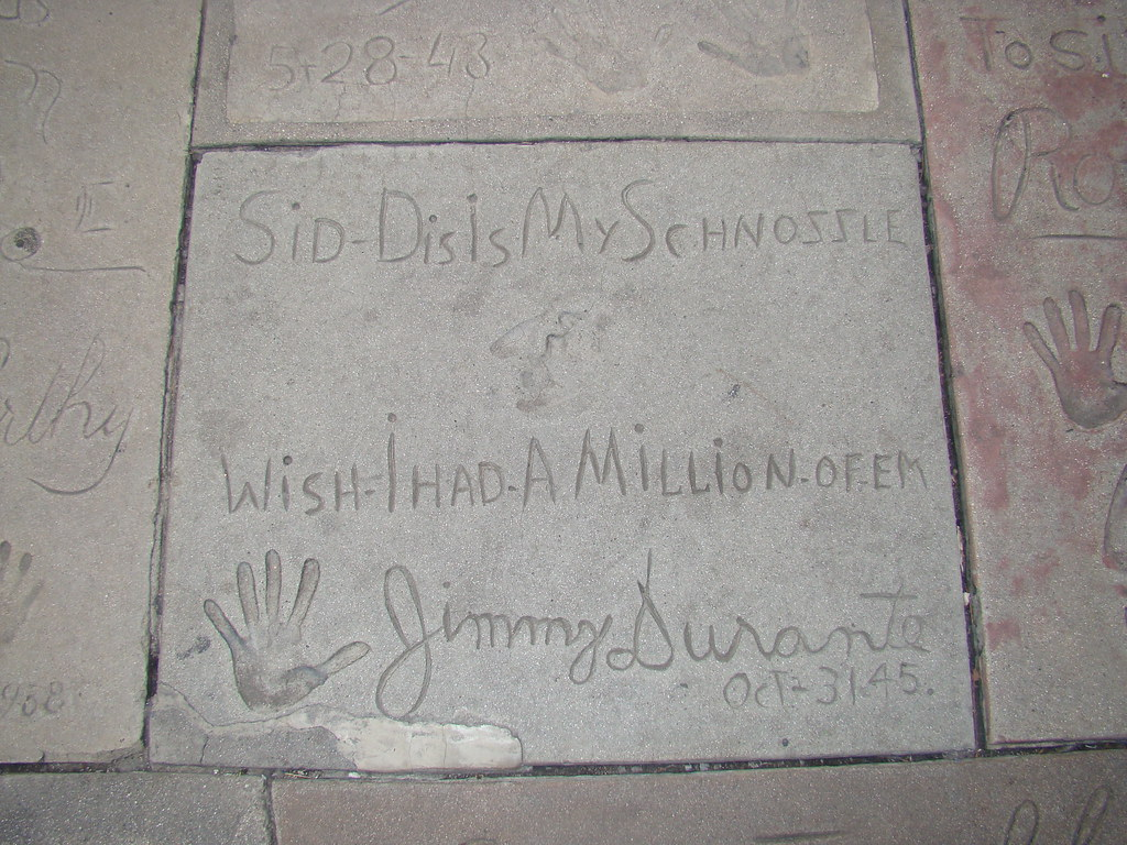 Jimmy Durante's nose print