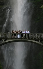 Memorable moment @ Multnomah falls (Kamlesh Patil) Tags: bridge wedding friends mountain love nature water beautiful canon portland landscape photography groom bride togetherness waterfall couple moments group couples marriage romance falls lovers crop romantic justmarried multnomahfalls memorable wedded happilyeverafter canonsx110is canonsx110