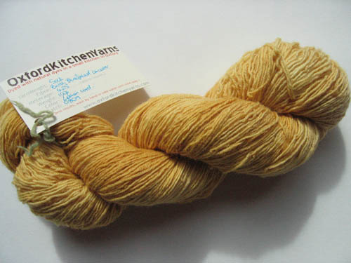Oxford Kitchen Yarns Sock Yarn: Lemon Curd